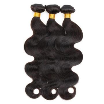 Peruvian Human Virgin Hair Body Wave 4*4 1PC Lace Closure with 3 Bundles