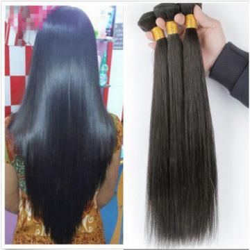 1 Bundle Unprocessed Brazilian Straight Peruvian Indian Virgin Human Hair 50g