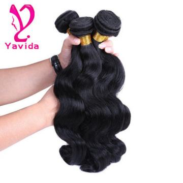 Peruvian Virgin Body Wave Weave Weft 100% Human Hair Wavy 3 Bundles/300g