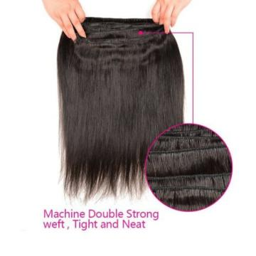 3Bundles/150g Unprocessed Virgin 8A Peruvian Straight Hair Extension Human Hair
