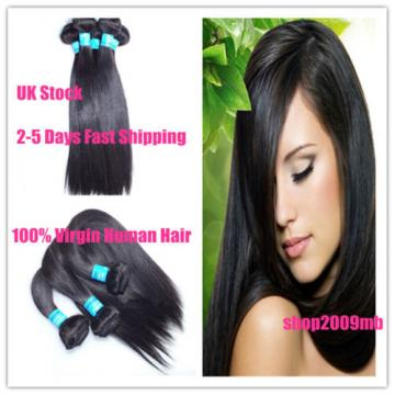 300G/3 Bundles Peruvian Human Hair Extension Virgin Straight  Hair