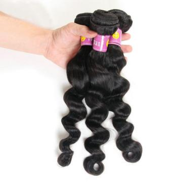 150g/3 Bundles Peruvian Loose Wave Virgin Human Hair Extension 100% Unprocessed