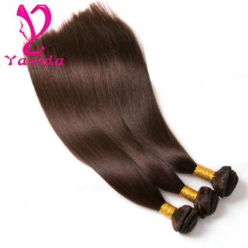 7A Peruvian Virgin Straight Human Hair Weave Weft 3 Bundles #4 total 300g