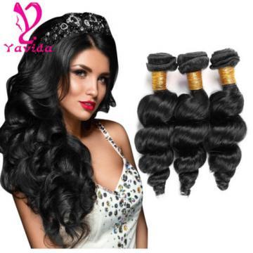 300g/3Bundle 7A Grade Loose Wave Peruvian Virgin Human Hair Extension Weave Weft