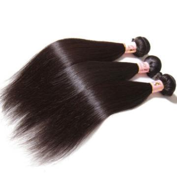 3 Bundles/150g Peruvian Virgin Human Hair Silky Straight 100% Unprocessed Hair