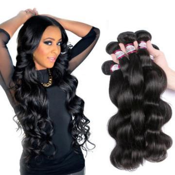 4 bundles Peruvian Virgin Remy Hair Body Wave Human Hair Weave Extensions 200g