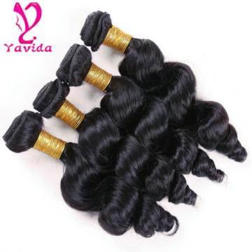 Loose Wave 400g/4Bundles Unprocessed Virgin Peruvian Human Hair Weft Extension