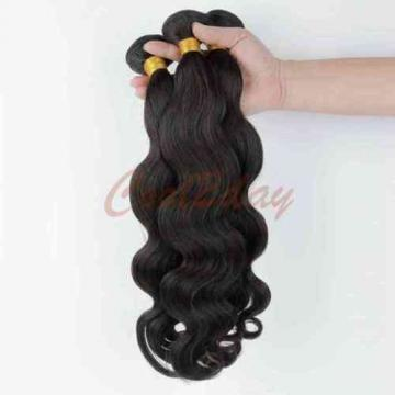 Peruvian Virgin Human Hair Extensions Weave Weft Body Wave 3 Bundles 150g
