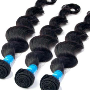 6A 4 Bundles/200g Deep/Body Wave Virgin Peruvian Natural Black Human Hair WWeft
