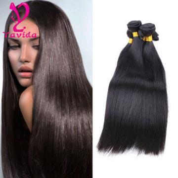 7A Peruvian Virgin Straight Hair 3 Bundles Human Hair Weave  Extensions 300g