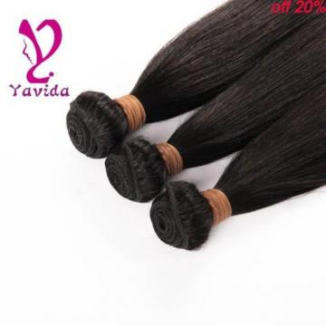 300g/3 Bundles Unprocessed Virgin Peruvian Straight Human Hair Extensions Weft