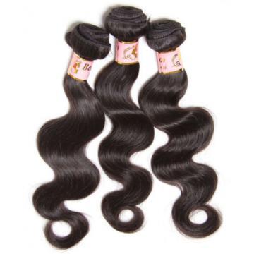 150g/3 Bundles Peruvian Body Wave Virgin Human Hair Weave Extensions Black