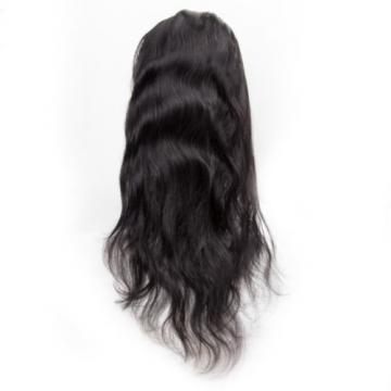 360 Lace Frontal Closure 100% Peruvian Virgin Human Hair Body Wave Natural Black