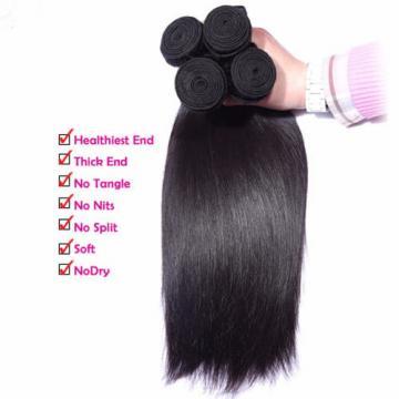 """2P 14""""Straight Virgin Hair Weave Peruvian Hair Bundles 100%Human Hair Extensions"""