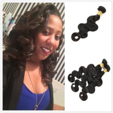 7A Peruvian Virgin Hair Body Wave Weave Hair Wefts Human Remy Hair Wavy 22 inch