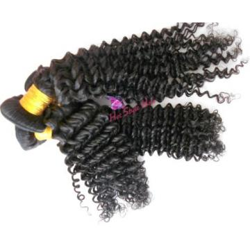 "7 A Peruvian Virgin Hair Weft Curly Hair Extension 10"" Hair Weft 3 Bundles 300g"