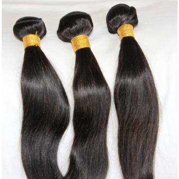 Peruvian Virgin Hair Extension Silk Straight Long Hair Weft 3 Pieces 8""