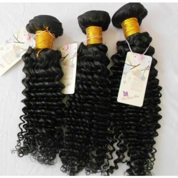 Unprocessed Peruvian Virgin Hair Weft Curl Hair Extension Hair Weave 12/12/12