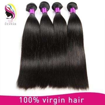 16 inches straight indian hair Straight hair sew in remy human hair extensions