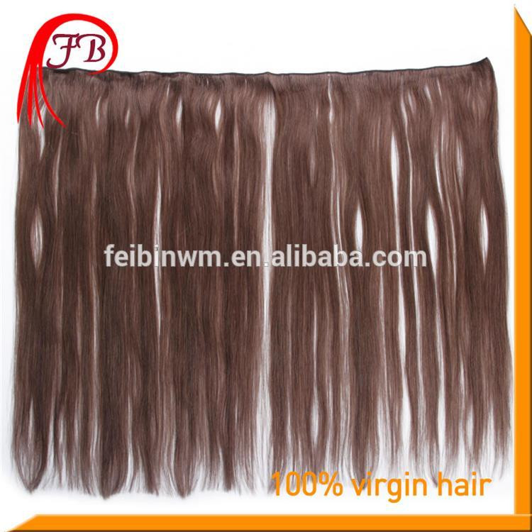 Fashion Style 7A Human Virgin Straight Hair Weft Color #2 Virgin Brazilian Hair Weft