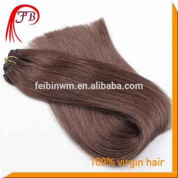 Hot Sale Human Virgin Color #2 Straight Hair Weft Russian 100% Human Hair Tangle Free