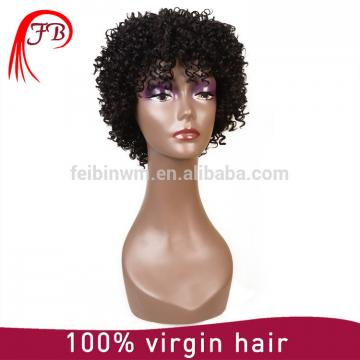 Brazilian Virgin Human Hair Full Lace Short Afro Wigs For Black Women