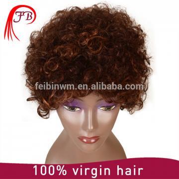 For white Women Brazilian Kinky Curl full lace Human Hair Wig