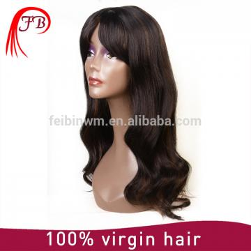 Fashionable brazilian hair wig smooth new natural human hair full lace wig