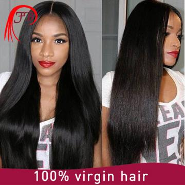 New Arrival Natural Black virgin hair Wigs Silk Base Full Lace Wig