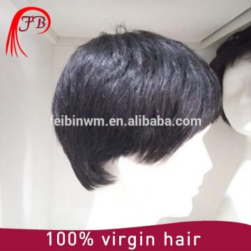100% Indian Virgin Hair men's toupee natural straight hair wigs