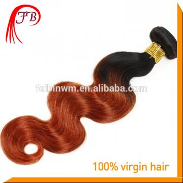 ombre hair extension Two Tone body wave remy hair fashion 1B/350