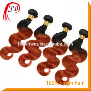 fashion 1B/350 ombre color Two Tone Hair Weave Ombre Human Hair weft