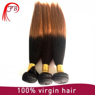 Straight cheap virgin extension wholesale two tone colored #1B/30 ombre color hair extensions