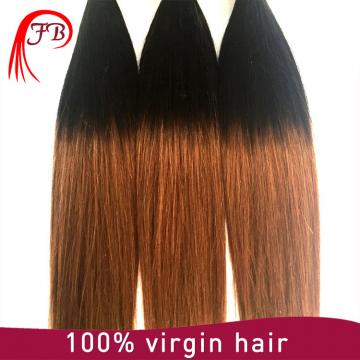 ombre human straight hair two tone color hair ombre hair extensions