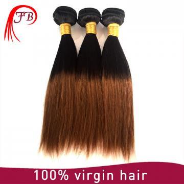 Fashion 1B/30 two tone hair silky straight ombre human hair weaving