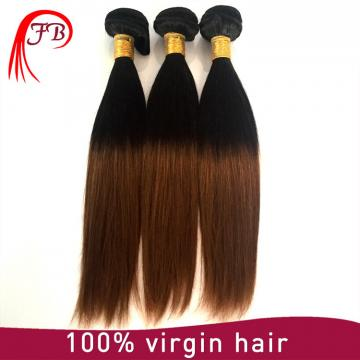 ombre hair extension two tone straight hair weft remy human