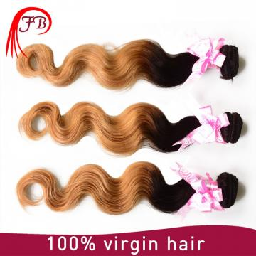Ombre Hair weft raw and unprocessed Body Wave hair weft 1B/27# hair extension