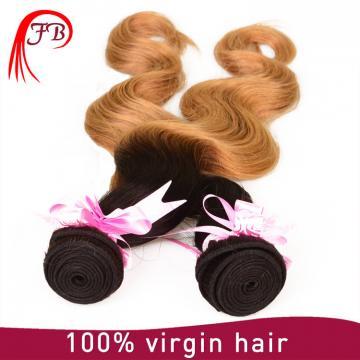 100% human ombre hair body wave Brazilian ombre hair extension
