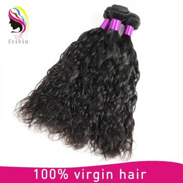 virgin remy hair weft natural wave hot selling natural color human hair