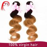 unprocessed ombre color human hair ombre hair weft body wave hair extension