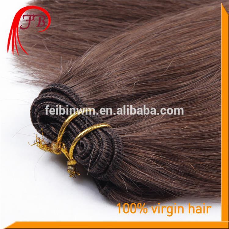Lastest Natural Human Virgin Color #2 Straight Hair Weft Malaysian No Tangle No Shed Hair Weave