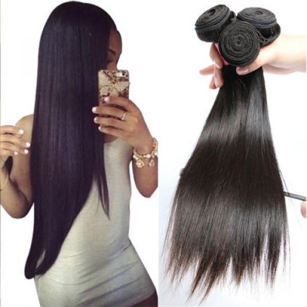 "8A Brazilian Straight Virgin Remy Hair 3Pcs Unprocessed Mink Hair Weave10+12+14"" #1 image"