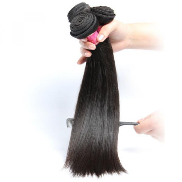 "8A Brazilian Straight Virgin Remy Hair 3Pcs Unprocessed Mink Hair Weave10+12+14"" #2 image"