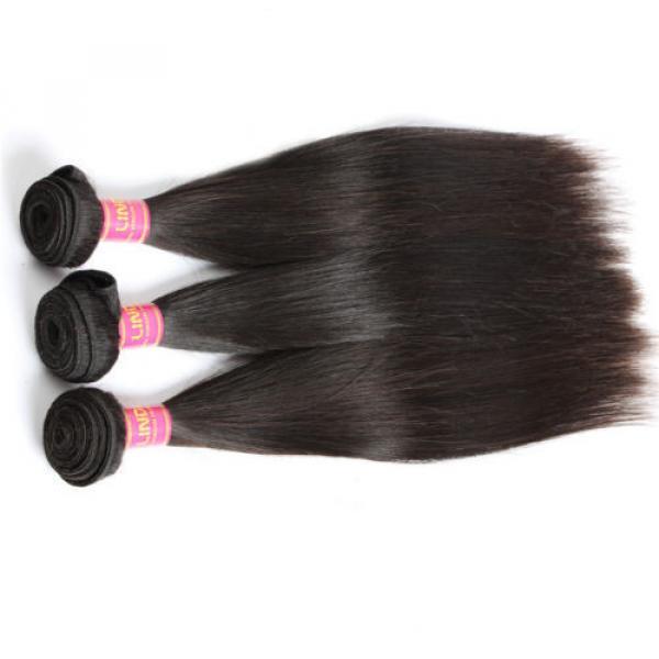 "8A Brazilian Straight Virgin Remy Hair 3Pcs Unprocessed Mink Hair Weave10+12+14"" #3 image"