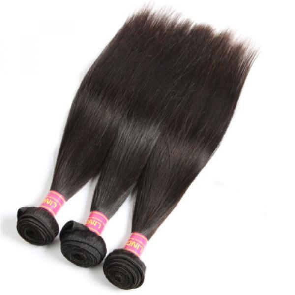 "8A Brazilian Straight Virgin Remy Hair 3Pcs Unprocessed Mink Hair Weave10+12+14"" #4 image"