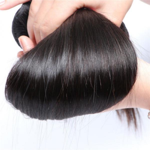 "8A Brazilian Straight Virgin Remy Hair 3Pcs Unprocessed Mink Hair Weave10+12+14"" #5 image"