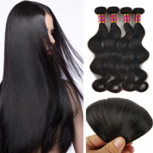 3 Bundles 150g 100% Brazilian Body Wave  Virgin Hair Weft Striaght Loose Wave 8A #1 image