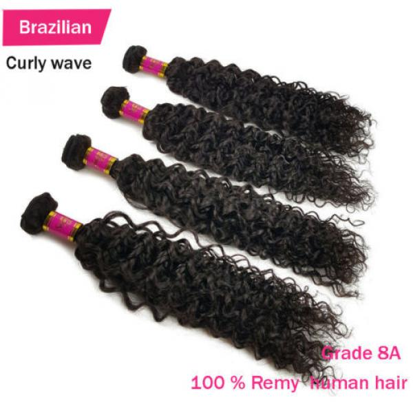 3 Bundles 150g 100% Brazilian Body Wave  Virgin Hair Weft Striaght Loose Wave 8A #4 image