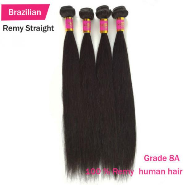 3 Bundles 150g 100% Brazilian Body Wave  Virgin Hair Weft Striaght Loose Wave 8A #5 image