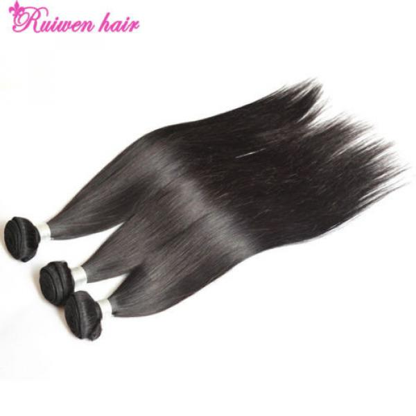 Virgin Brazilian Hair Extensions 3 Bundles 150g Human Hair Weave 8A Unprocessed #2 image